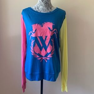 NWT Wildfox horse emblem color block BBJ size M